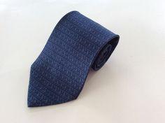 Savile Row Neck Tie Tan Blue Geometric 100% Silk #SavileRow #NeckTie