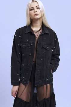 MAGPIE DENIM JACKET on the ragged priest.