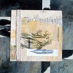 the forgotten art, 6 x 6, mixed media,  caterina giglio,  La Dolce Vita