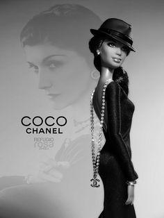 """131 aniversario del nacimiento de Coco Chanel: """"La simplicidad es la clave de la verdadera elegancia."""" (131 birth anniversary of Coco Chanel: """"Simplicity is the keynote of all true elegance."""") Barbie Ooak doll by David Bocci for Refugio Rosa."""