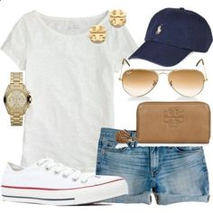 Love everything, exempt the shoes and baseball cap. Would replace them with a cute floral scarf, and some ADORBS ballet flats! Just for a girly girl touch.