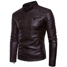 Coloured Leather Jacket, Men's Leather Jacket, Faux Leather Jackets, Pu Leather, Cheap Mens Jackets, Leather Jackets Online, Faux Jacket, Indian Men Fashion, Jacket Style