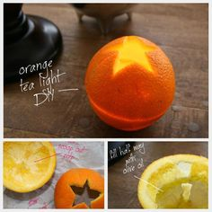 Orange Tea Light DIY
