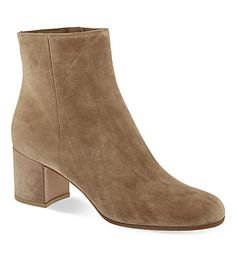 £595 Margaux suede block heel ankle boots 60 mm