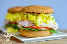 This is so good!! And healthy. Turkey and egg salad sandwich. Me and my boyfriend charles love it!