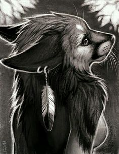 Trishell- This picture is so awesome, I love the fox and the feather on the ear