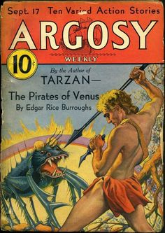 Argosy, September 17th 1932, Pirates of Venus by Edger Rice Buroughs