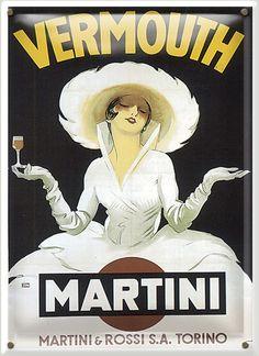 Vermouth - Martini (artist: Dudovich) Austria c. 1920 - Vintage Poster (Art Print Available) Poster Art, Retro Poster, Kunst Poster, Poster Prints, Art Prints, Art Posters, Posters Vintage, Vintage Advertising Posters, Vintage Advertisements