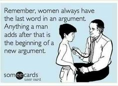 Or just don't argue