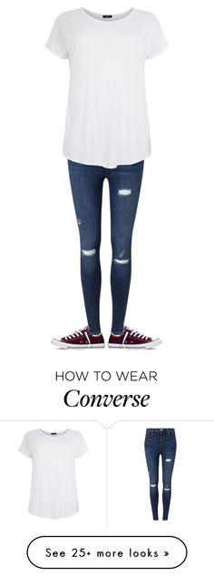 """Untitled #379"" by kylie897 on Polyvore featuring Miss Selfridge and Converse"