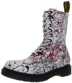 Dr. Martens Women's 1490 W 10 Eye Boot,White/Black/Cherry Red Paint Splatter,5 UK/7 M US Dr. Martens. $92.99