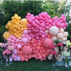 Ideas Bridal Shower Decorations Balloons Photo Booths For 2019 Balloon Installation, Balloon Backdrop, Photo Booth Backdrop, Balloon Wall, Balloon Garland, Balloon Decorations, Photo Booths, Backdrop Ideas, Photo Backdrops