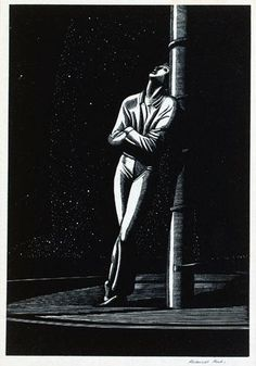 Rockwell Kent, Man At Mast, 1929 Wood engraving