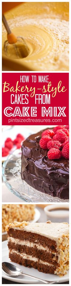 The secrets to making a bakery-style cake from a cake mix are all included in this post! Take your cakes from dry and boring to fantabulous! @alicanwrite