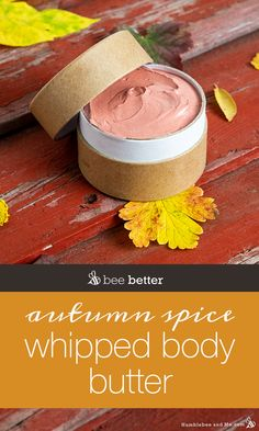 Autumn Spice Whipped Body Butter Homemade Pastries, Homemade Soap Recipes, Cinnamon Essential Oil, Essential Oils, Homemade Lip Balm, Whipped Body Butter, Scented Oils, Homemade Beauty Products, Spices