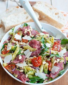 Easy Salad Recipes, Pasta Recipes, Healthy Recipes, Shaved Brussel Sprout Salad, Carpaccio, No Cook Meals, Wine Recipes, Food Inspiration, Italian Recipes