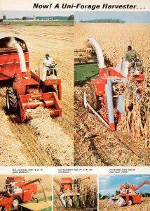 1966 Ad New Idea Uni Forage Harvester Farm Equipment