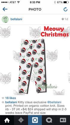 Meowy christmas leggings