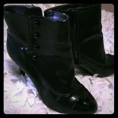 Apt. 9 ankle boots Apt. 9 ankle boots. Gently used. Black with decorative buttons. Apt. 9 Shoes Ankle Boots & Booties