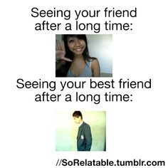 Seeing best friend after a long time [funny gifs]