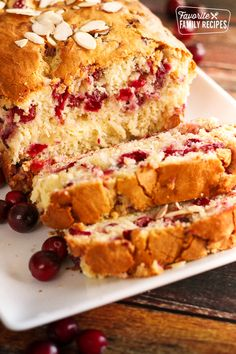 Cranberry Bread with Cream Cheese Swirl This Cranberry Almond Bread with Cream Cheese Swirl is like Christmas in a loaf pan. Super easy to make (no yeast needed) and is absolutely delicious! Cranberry Bread, Cranberry Almond, Keto Cranberry Recipes, Bread Recipes, Cake Recipes, Dessert Recipes, Desserts, Pumpkin Recipes, Fruit Bread