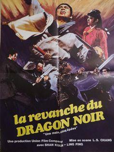 LA Revanche DU Dragon Noir Affiche Cinema Kung FU Karate 1968 | eBay