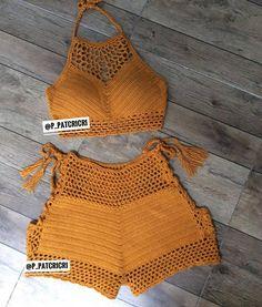 Inspiraes Croche Lucy Tops Com Any Deins - Diy Crafts - Marecipe Crochet Beach Dress, Crochet Bra, Crochet Summer Tops, Crochet Halter Tops, Cute Crochet, Crochet Clothes, Motif Bikini, Crochet Fashion, Crochet Designs