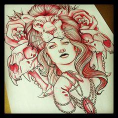 lion tattoo sketch   Tumblr