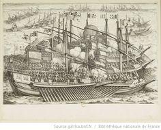 [La vie de Ferdinand Ier de Médicis]. [11], [Premier combat naval] : [estampe] / [Jacques Callot inc.] ; [Matteo Roselli inv.] - 1