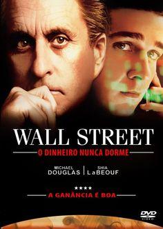 Wall Street - O dinheiro nunca dorme Wall Street, Douglas Michael, Dvd, Cinema, Movie Posters, Movies, Money, Films, Film Poster