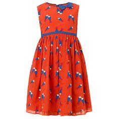 Buy John Lewis Girl Lovebirds Print Dress, Red Online at johnlewis.com