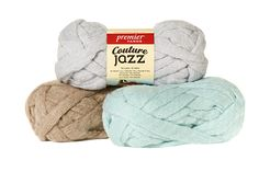 The favorite yarn of arm knitters everywhere, Couture Jazz is a soft and fluffy knitted tube of fine, brushed acrylic. Make a trendy cowl in 15 minutes, or a blanket in under an hour! - Solids: 81% Ac