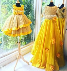 Mom and daughter dresses only at Flutterbows Mom Daughter Matching Outfits, Mommy Daughter Dresses, Mom And Baby Dresses, Mother Daughter Fashion, Kids Party Wear Dresses, Baby Girl Party Dresses, Little Girl Dresses, Baby Girl Birthday Dress, Indian Fashion Dresses