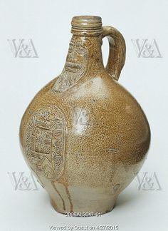 Jug or bottle. Germany, 1600-1650