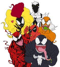 Anti-Venom, Scream, Phage, Spidey, Carnage and Venom ❤️ Marvel Films, Marvel Art, Marvel Dc Comics, Marvel Avengers, Venom Spiderman, Marvel Venom, Spiderman Art, Marvel Funny, Marvel Memes