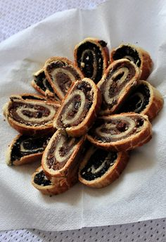 Beigli is a traditional nut roll served in many Hungarian families at Christmas and Easter as a special treat.  It can be filled with walnut paste, or poppy seeds.