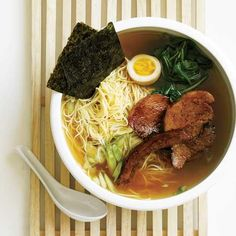 Shoyu Ramen |  After visiting New York City's top ramen spots (including Ippudo NY, Sapporo and Momofuku Noodle Bar), Grace Parisi created her dream ramen with a pork-and-chicken-based broth that gets extra depth of flavor from kombu (seaweed) and shoyu (Japanese soy sauce).