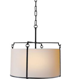 Visual Comfort Studio Aspen 4 Light Hanging Shade in Hand Painted Blackened Rust S5030BR-NP #visualcomfort