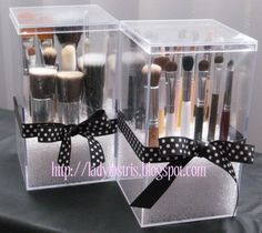 "Dust free makeup brushes- made with ""craft box"" by darice at Beverley's"