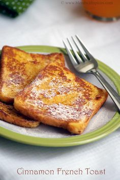 Eggless Cinnamon French Toast Recipe | Easy Bread Recipes | blendwithspices.com