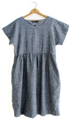 state - field dress / denim : organic cotton + hemp