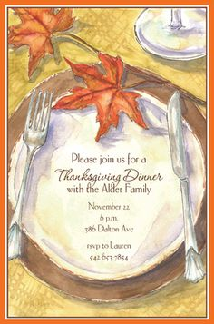 Harvest Placesetting Invitations