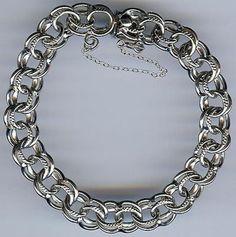 Vintage Fancy JC Sterling Silver Starter Charm Bracelet   eBay