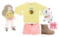 """""""Bee and Puppycat Cosplay"""" by lalaleap ❤ liked on Polyvore featuring Bee Bee, American Eagle Outfitters and H&M"""