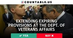 Does Congress Need to Extend Expiring VA Authorities? Vote! #Defense #Military #Infrastructure #Homelessness #Health #Government #FederalAgencies #Veterans #Affairs #politics #countable