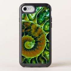 Green Nautilus Art Speck iPhone Case