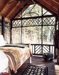 I didn't know there was such a thing as a sleeping porch, which is what this is, but this is a great idea for The Lake.