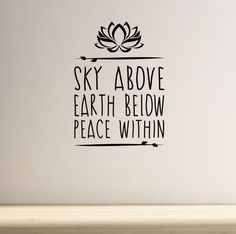 Sky Above Yoga Wall Decal Quote Lotus Flower Meditation Health Spiritual Namaste | Home, Furniture & DIY, Home Decor, Wall Decals & Stickers | eBay!