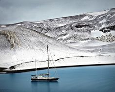 Taking a Break - Deception Island, Antarctica