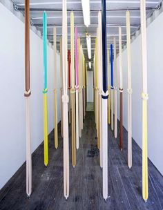 The tied elastic exhibition - rubbers by Martha Friedman